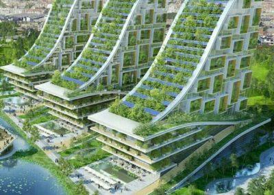 Architecture végétale futuriste