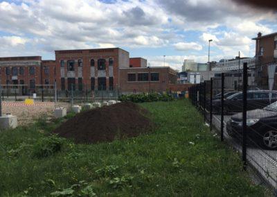 Avant - Potager urbain - Apport de terre