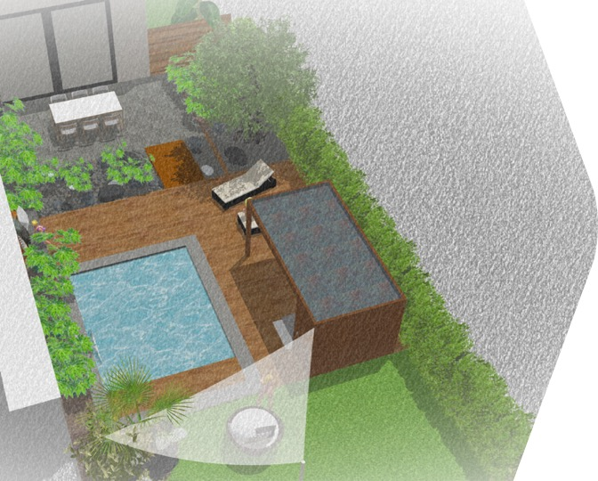 Coming soon . Terrasse composite . Piscine . Jungle