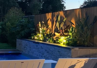 Terrasse composite . Piscine . Jungle
