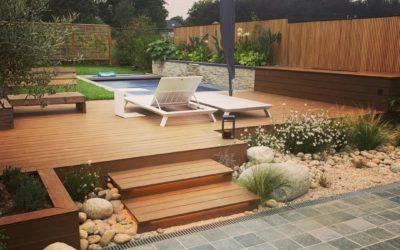 Terrasse composite . Piscine