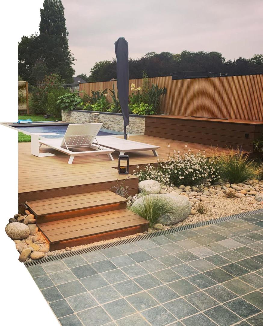 Terrasse et jardin aménagés